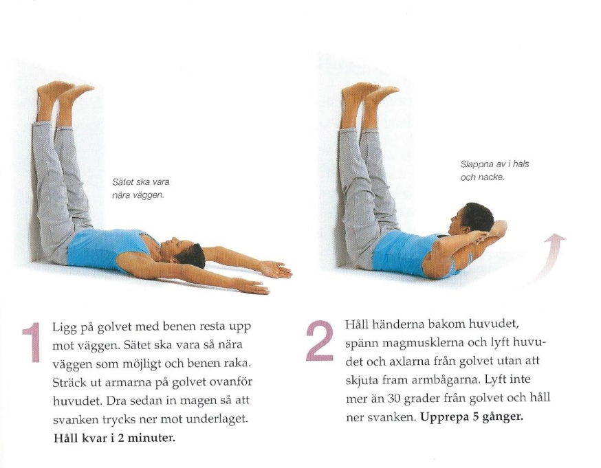 Kramplyft bra för både rygg och mage