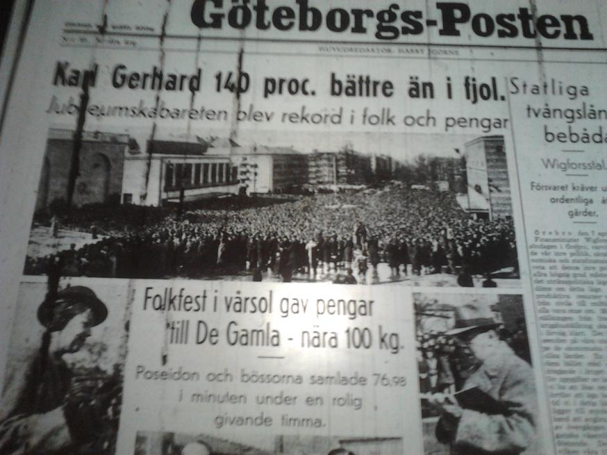 Göteborg söndagen den 7 april 1940