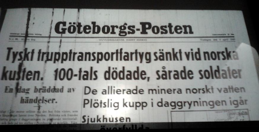Göteborg tisdagen den 9 april 1940 – Olle Nystedts predikan