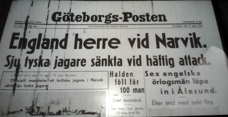 Göteborg söndagen den 14 april 1940