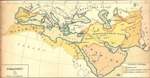 Kalifatet_år_750_historisk_karta